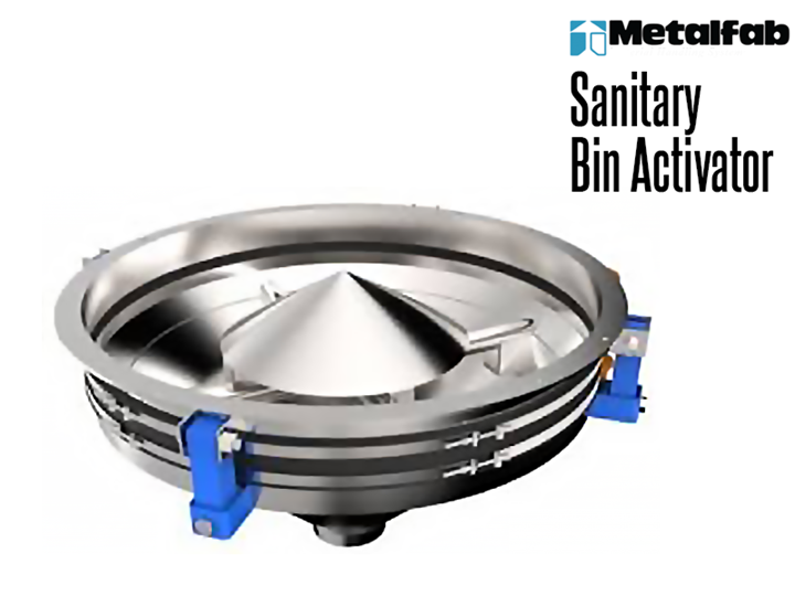 Metalfab Sanitary Bin Activators feature stainless steel construction and other features making them suitable for food processing and other sanitary applications.