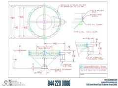 Metalfab Bin Activator 6' Diameter ACAD, dwg, Step Drawing
