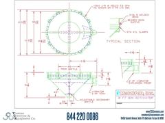 Metalfab Bin Activator 8' Diameter ACAD, dwg, Step Drawing