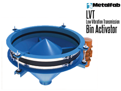 Metalfab LVT Bin Activators are used to create flow of dry bulk solids from vertical storage bins.