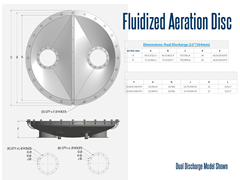 Aeration Disc, Dual Discharge Model	Schematic