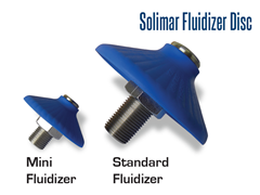 Solimar fluidizer discs come in two sizes, standard and mini.