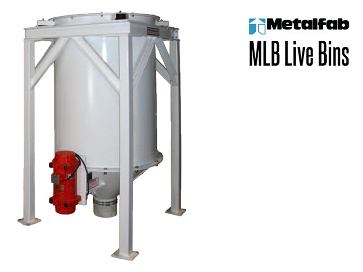 A MLB Live Bin provides uninterrupted flow of material without bridging or rat holing upon demand.