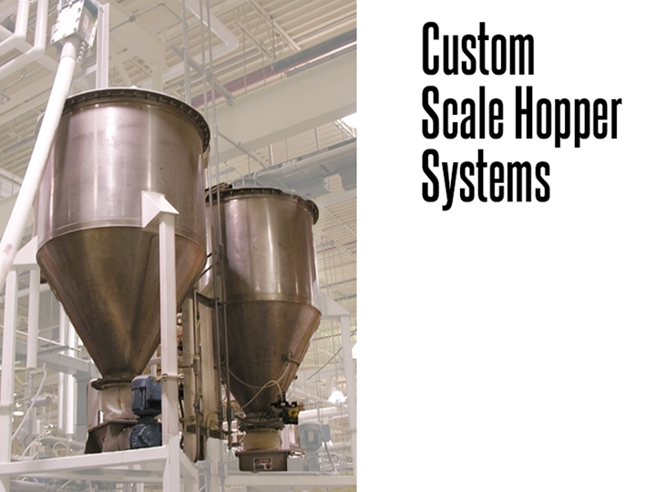 Scale hoppers for the bakery, flour, sugar and dry bulk product industry.
