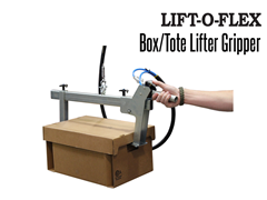 Lift-O-Flex Box/Tote Lifter Gripper. Contact a Thomas Conveyor ergonomic engineer to find out which end effectors would provide the optimal solution to your ergonomic lifting application.