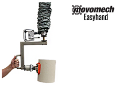 The Easyhand M is a vacuum tube lifter which handles loads up to 55 pounds