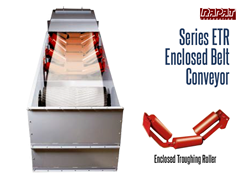 The Rapat Series ETR features CEMA troughing idlers and a self-cleaning UHMW slide belt return