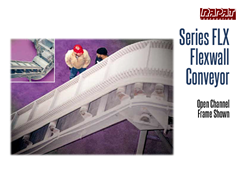 The Rapat Series-FLX features sidewall belts to convey materials up inclines up to 90°