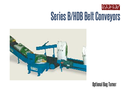Rapat Series B/HDB has an optional bag turner for positioning onto conveyor lines.