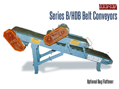 Rapat Series B/HDB has an optional bag flattener allowing for uniform palletizing, stacking and shipping