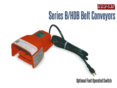 Rapat Series B/HDB has an optional foot operated switch allowing the operator hands free operation